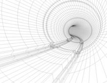 Ilustracion 3d De Plano  De Tunel