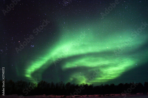 Poster Aurore polaire Background showing Northern lights in the sky