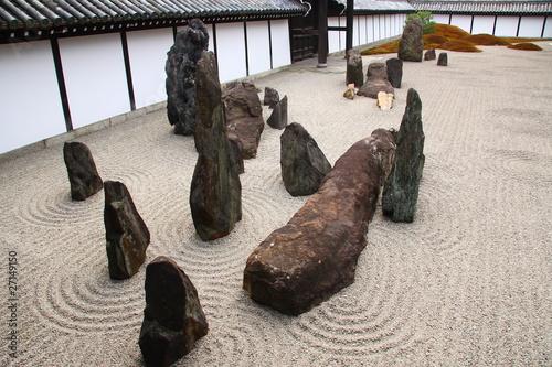 Photo sur Plexiglas Zen pierres a sable Jardin de pierres (Tofukuji temple, Kyoto)