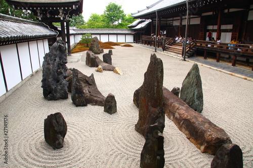 Photo sur Plexiglas Zen pierres a sable Jardin sec de Toufukuji temple à Kyoto