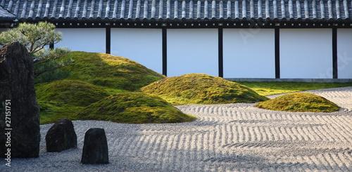 Poster Zen pierres a sable Jardin zen à Nanzen-ji temple (Kyoto, Japan)