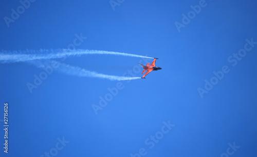 Acrobatic jet airplane Canvas Print