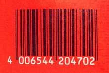 Bar Code On Red Background - Codice A Barre Su Sfondo Rosso