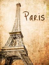 Vintage  Eiffel Card