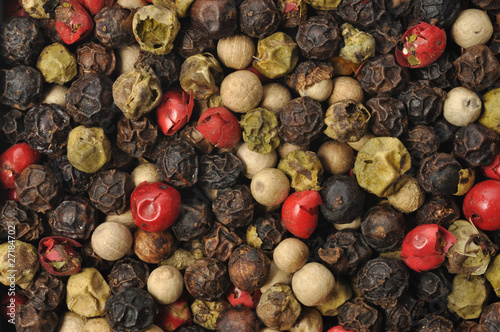Keuken foto achterwand Macrofotografie Colorful Pepper