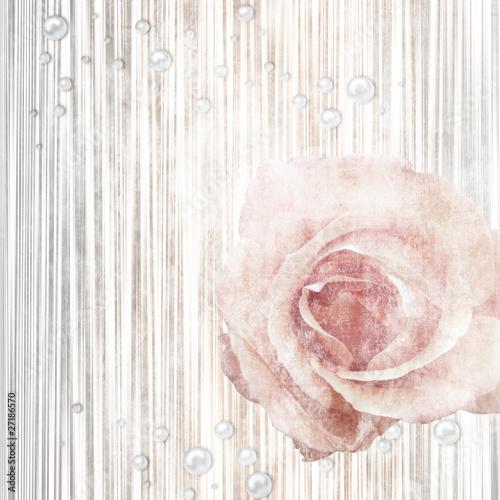 Keuken foto achterwand Retro Vintage background with rose