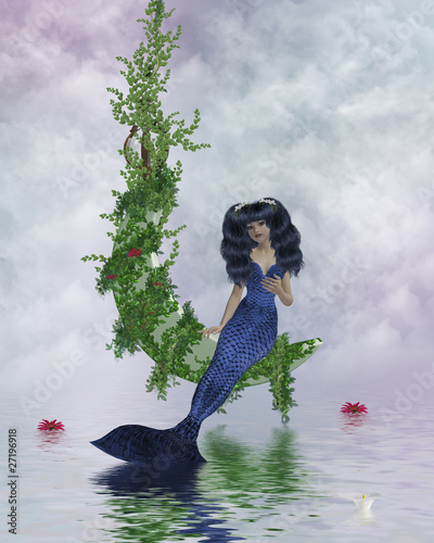 Deurstickers Zeemeermin Moon Mermaid