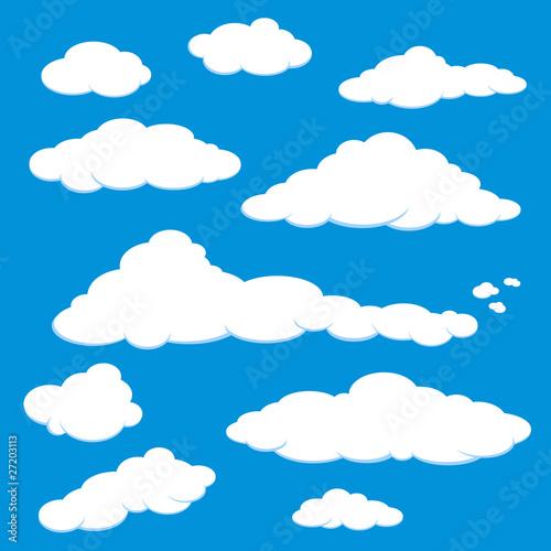 Foto op Plexiglas Hemel Cloud Blue Sky Vector