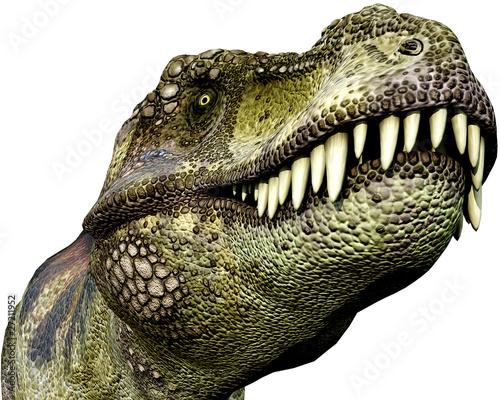 Photo tyrannosaurus green close up