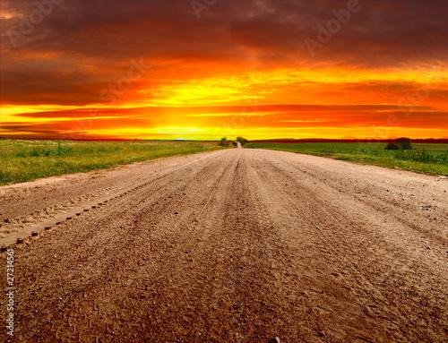Fototapeta słońce o świcie