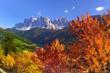 Leinwanddruck Bild - Val di Funes