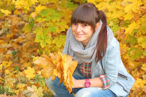 Obraz Jesienny portret - fototapety do salonu