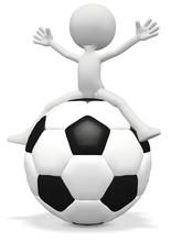 WM Sitting On Soccerball