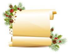 Vector. Christmas Scroll.