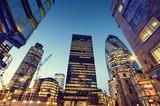 Fototapeta Londyn - Skyscrapers in City of London,