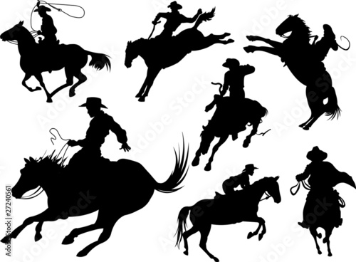 Garden Poster Fairytale World Cowboys silhouettes