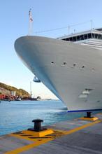 Crusie Ship At Port