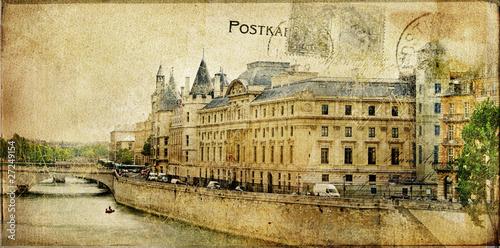 Papiers peints Retro Parisian vintage series cards