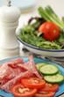 Milano Salami and Salad
