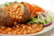 Jacket Potato With Baked Beans And Salad