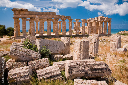 Poster Ruine Greek temple in Selinunte