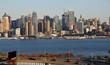 new york city cityscape over hudson river