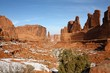 Panorama of Arches National Park in winter, Utah, USA