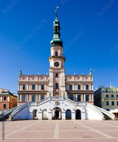 Wall Murals Northern Europe Town Hall, Main Square (Rynek Wielki), Zamosc, Poland