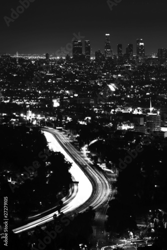 Photographie  Downtown Los Angeles la nuit