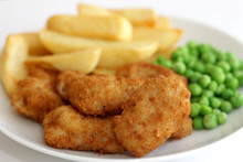 Scampi Peas And Chips