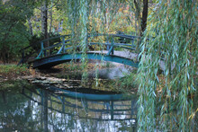 Bridge In Giverny, France Where Monet Painted His Water Lilies