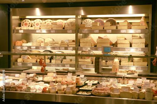 Deurstickers Bakkerij Étal de fromages