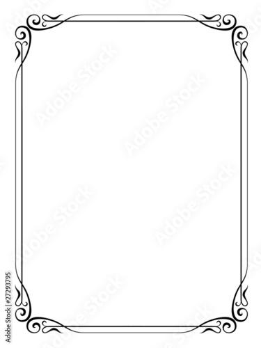 Fotografie, Obraz  Vector calligraphy ornamental decorative frame