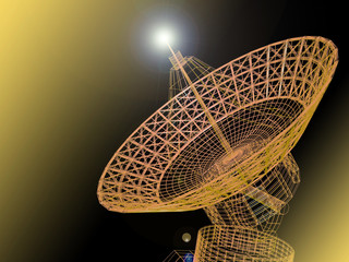 Fototapetasatellite dish