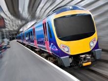 Fast Modern Passenger Train Wi...