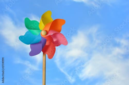 Fotografia, Obraz  Pinwheel On a Blue Sky