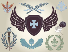 Heraldic Symbols And Design El...