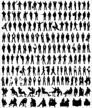 Vector Silhouette Of Business ...