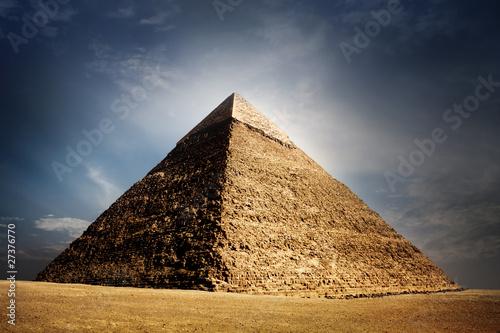 Canvas Print giza pyramids, cairo, egypt