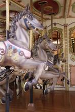 Antikes Pferdekarussell In Nahaufnahme