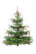 Rot dekorierter Weihnachtsbaum