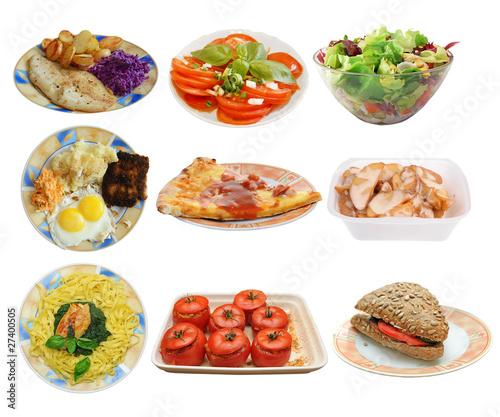 Assembling of different dishes © Jaroslaw Grudzinski