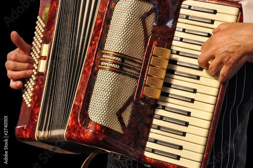 Cuadros en Lienzo akkordeonspieler