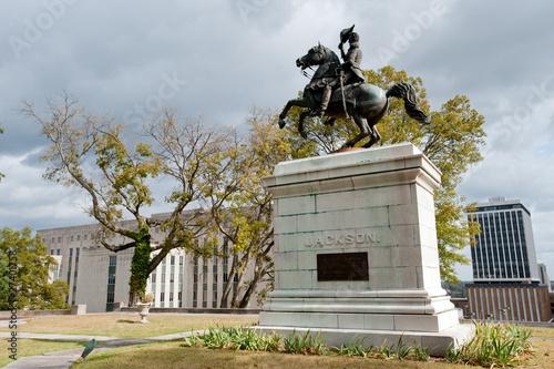 Photo  Andrew Jackson monument with Supreme court, Nashville, TN