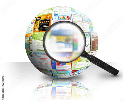 Fotografia  Internet Website Search 3D Ball