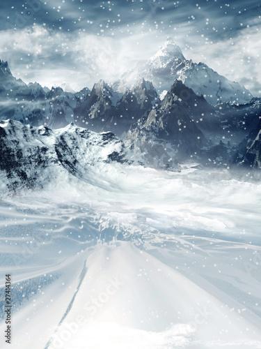 Fototapeta Zimowy pejzaż obraz