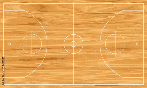 Obraz wooden basketball court - fototapety do salonu
