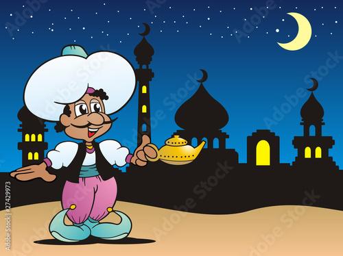 Fotomural Aladin mit seiner Wunderlampe