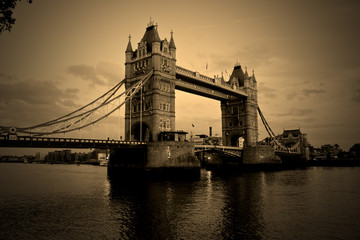 Tower bridge sepia