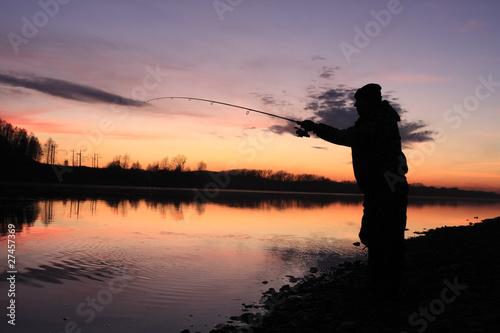 Foto op Canvas Jacht The fisherman